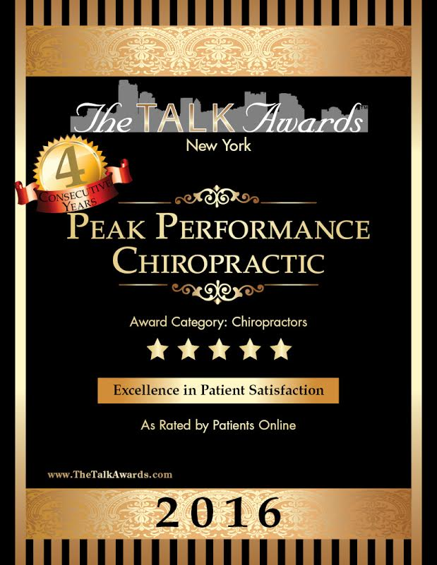 2015 Peak Performance Chiropractic Talk of the Town